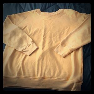 Forever 21 soft yellow crew neck . (Gently used)
